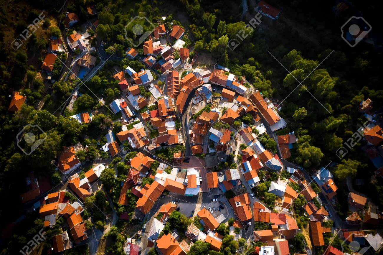 Top view of Foini village, Cyprus. - 150716903