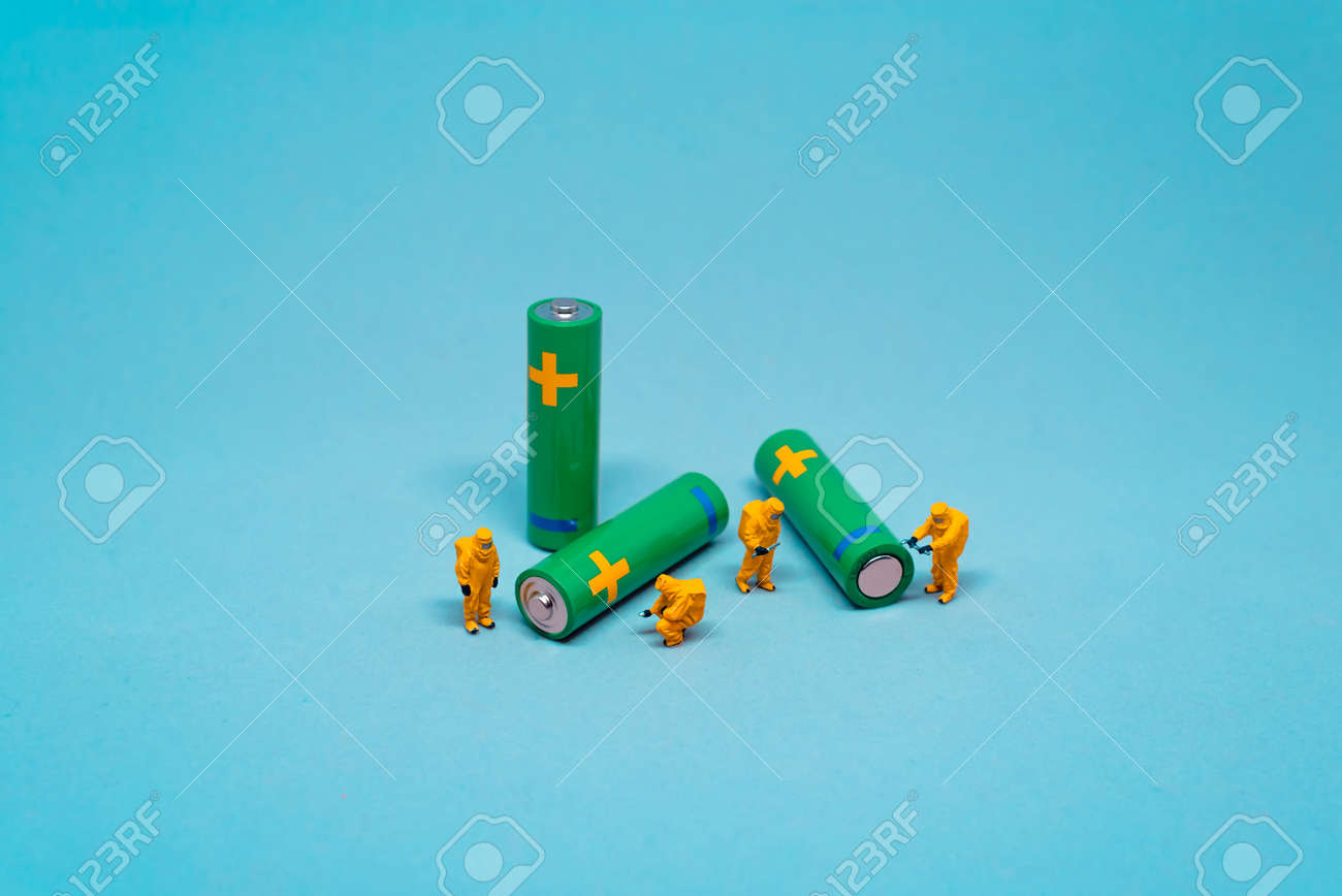 Battery utilisation. Battery recycling concept - 157355964