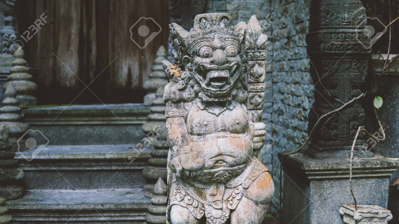 traditional Thai statues  Simian traditions and gods of Buddhism