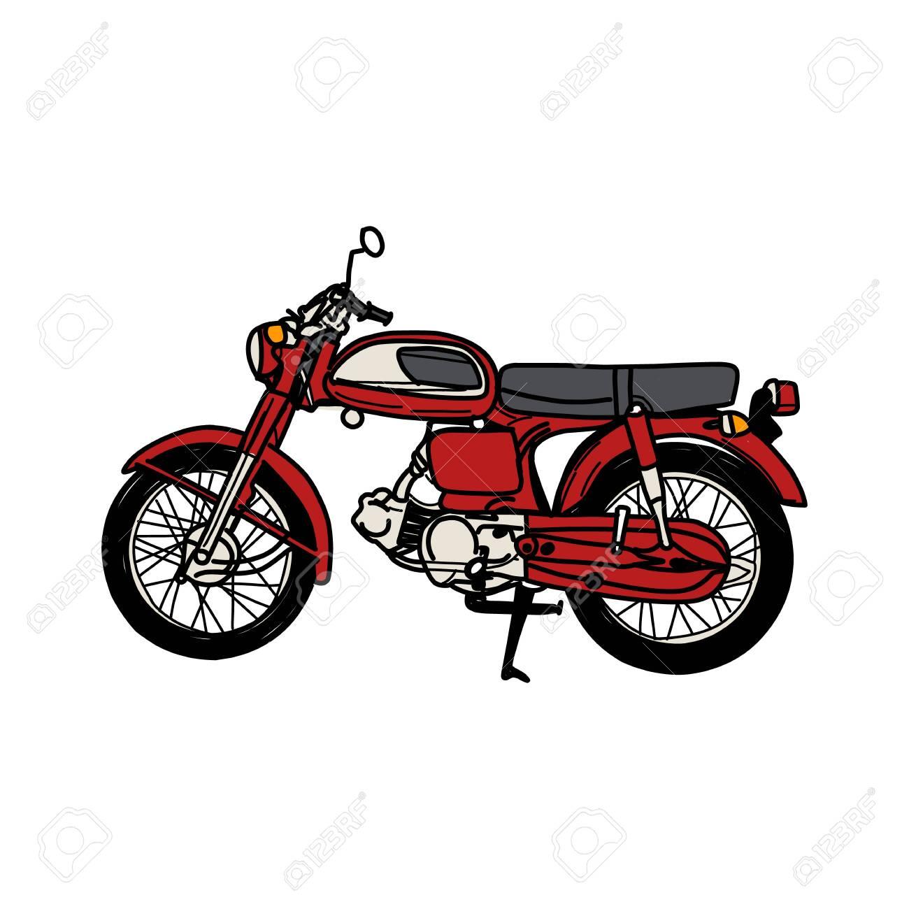 Silhouette of Old Motorcycle - vintage motorcycle - 130210854