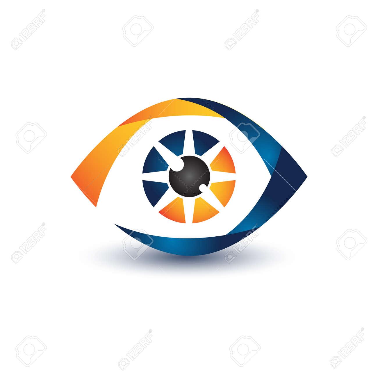 Illustration design eye symbol for your best business symbol. Vector illustration - 155135275