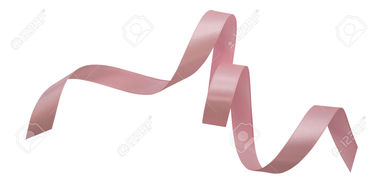 A pink ribbons isolated on a white background - 161427887