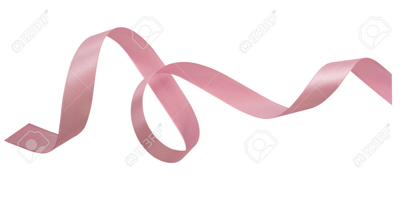 A pink ribbons isolated on a white background - 161427892