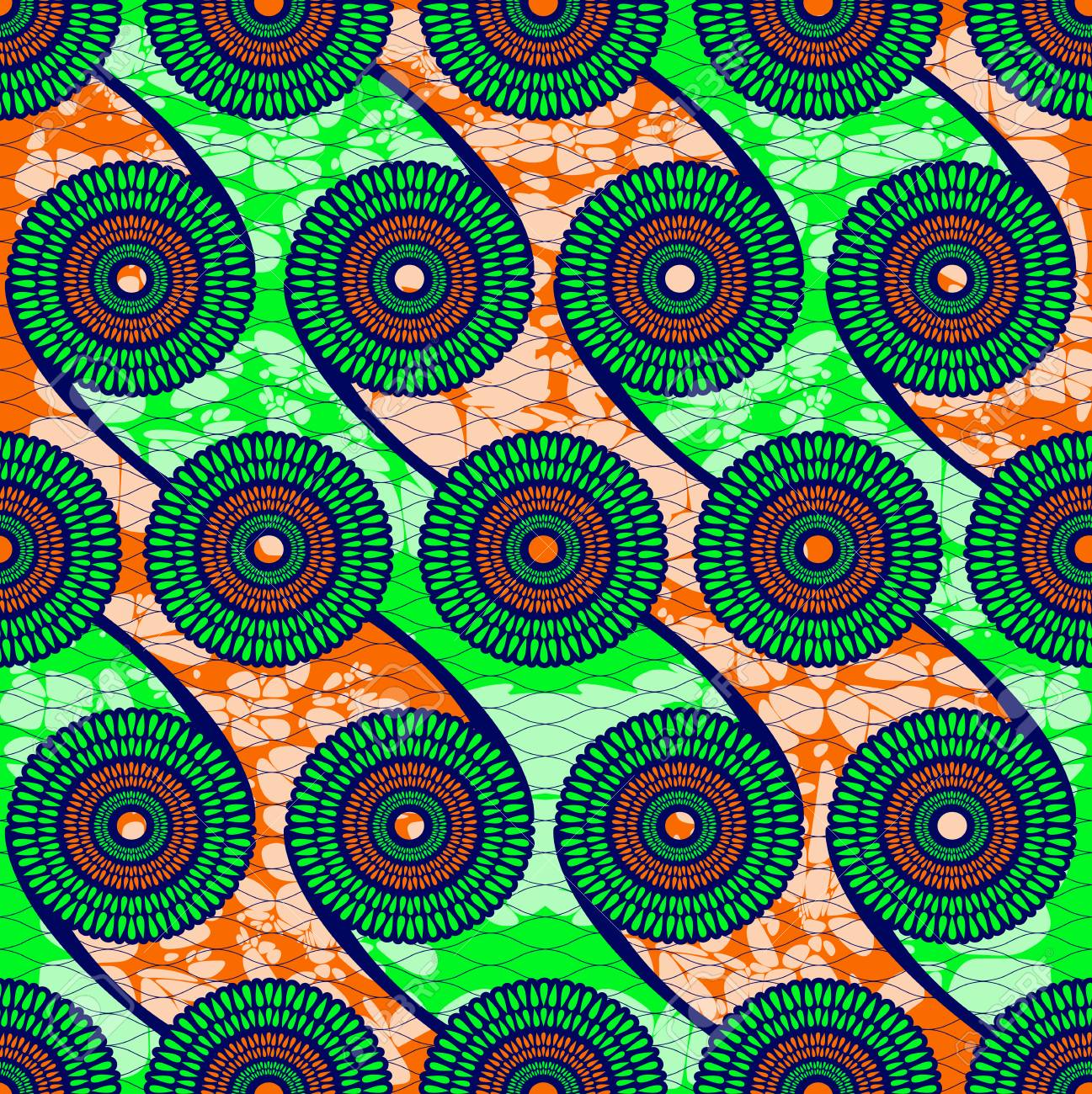 Textile fashion african print fabric super wax. vector illustration file. - 125535128