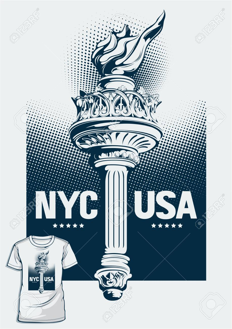 NEW-YORK NY USA UNITED STATES OF AMERICA T-SHIRT Silkscreen
