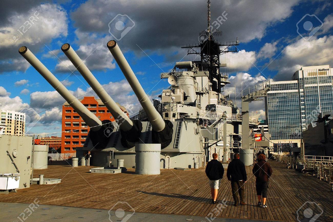 Onboard the USS Wisconsin, Norfolf, Virginia - 61255632