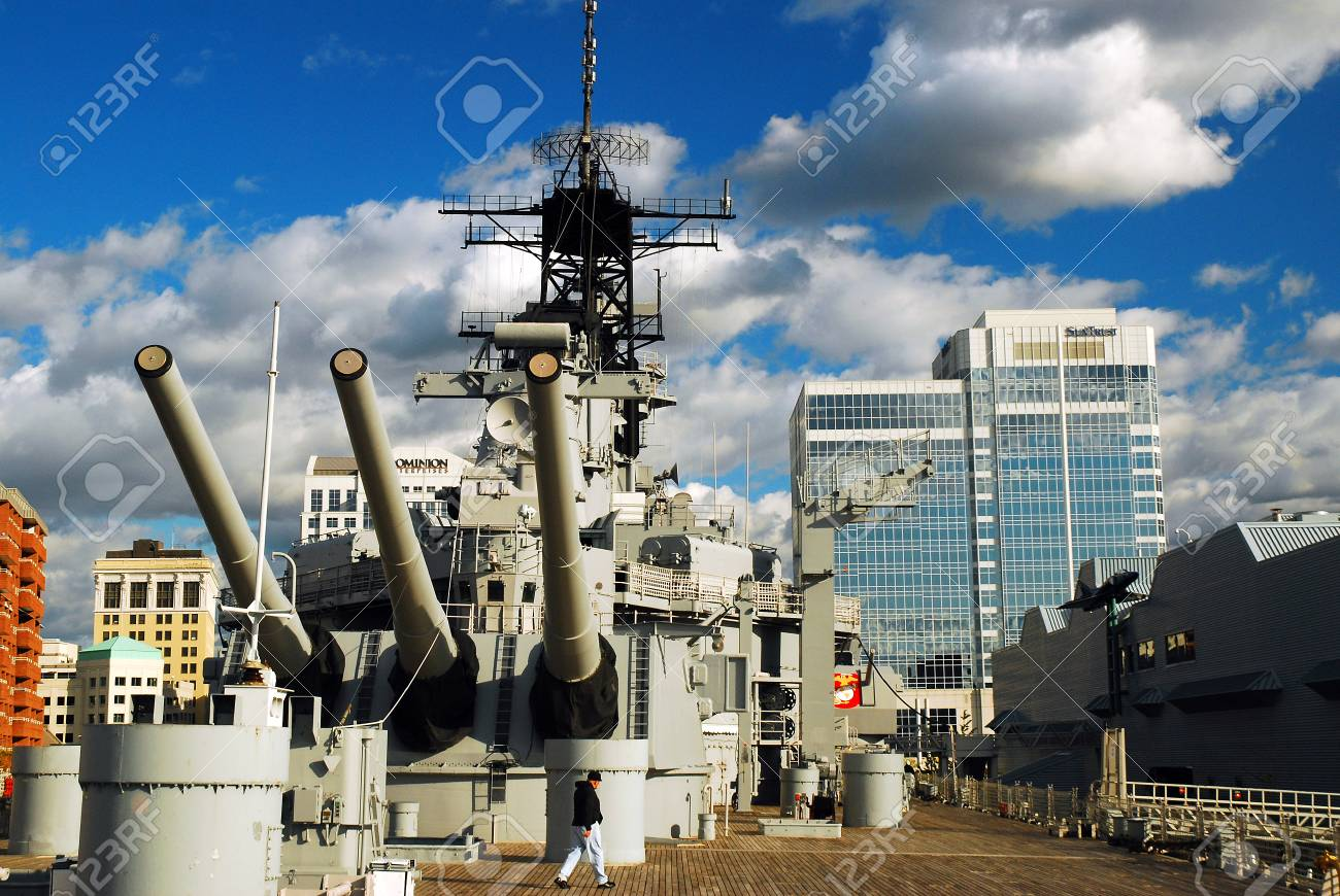 On the Deck of the USS Wisconsin, Norfolk, Virginia - 86460907