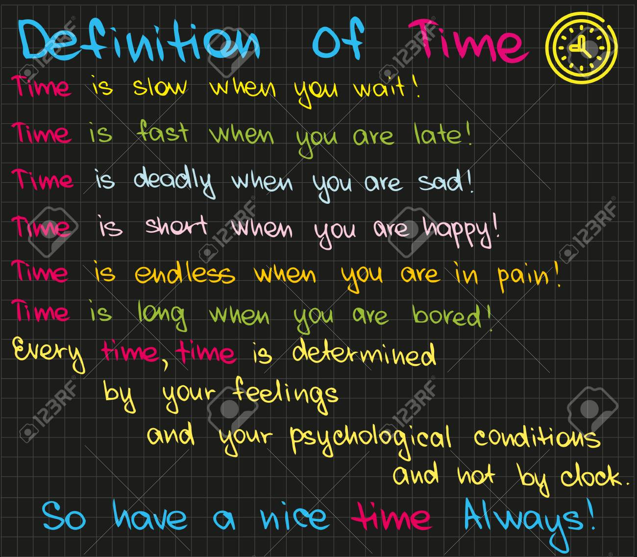 The sketch words about motivation and success for business presentation