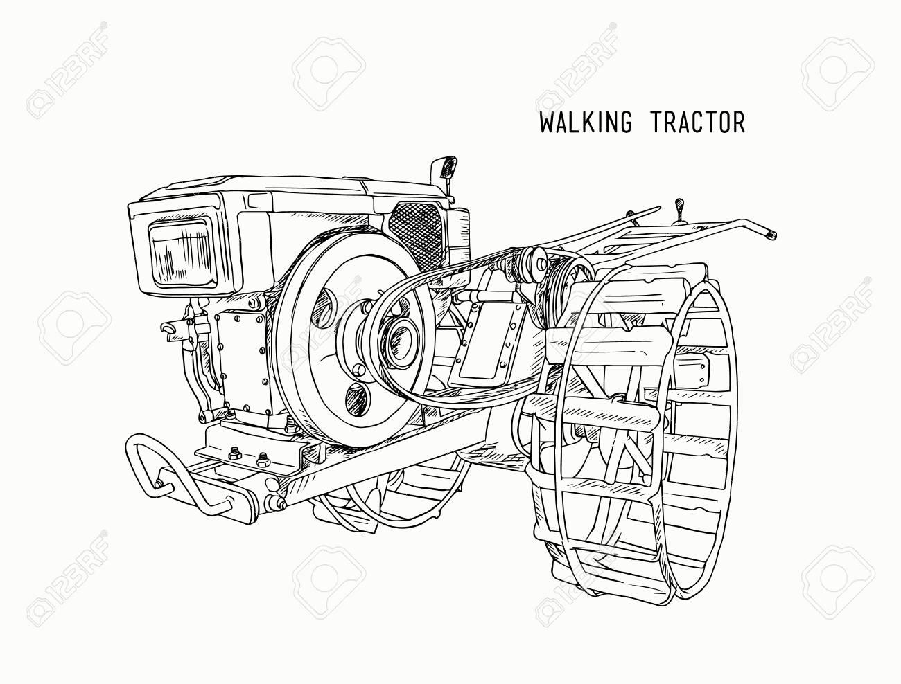 Machine De Charrues Tracteur De Marche Pour Le Sol Cultive Pour