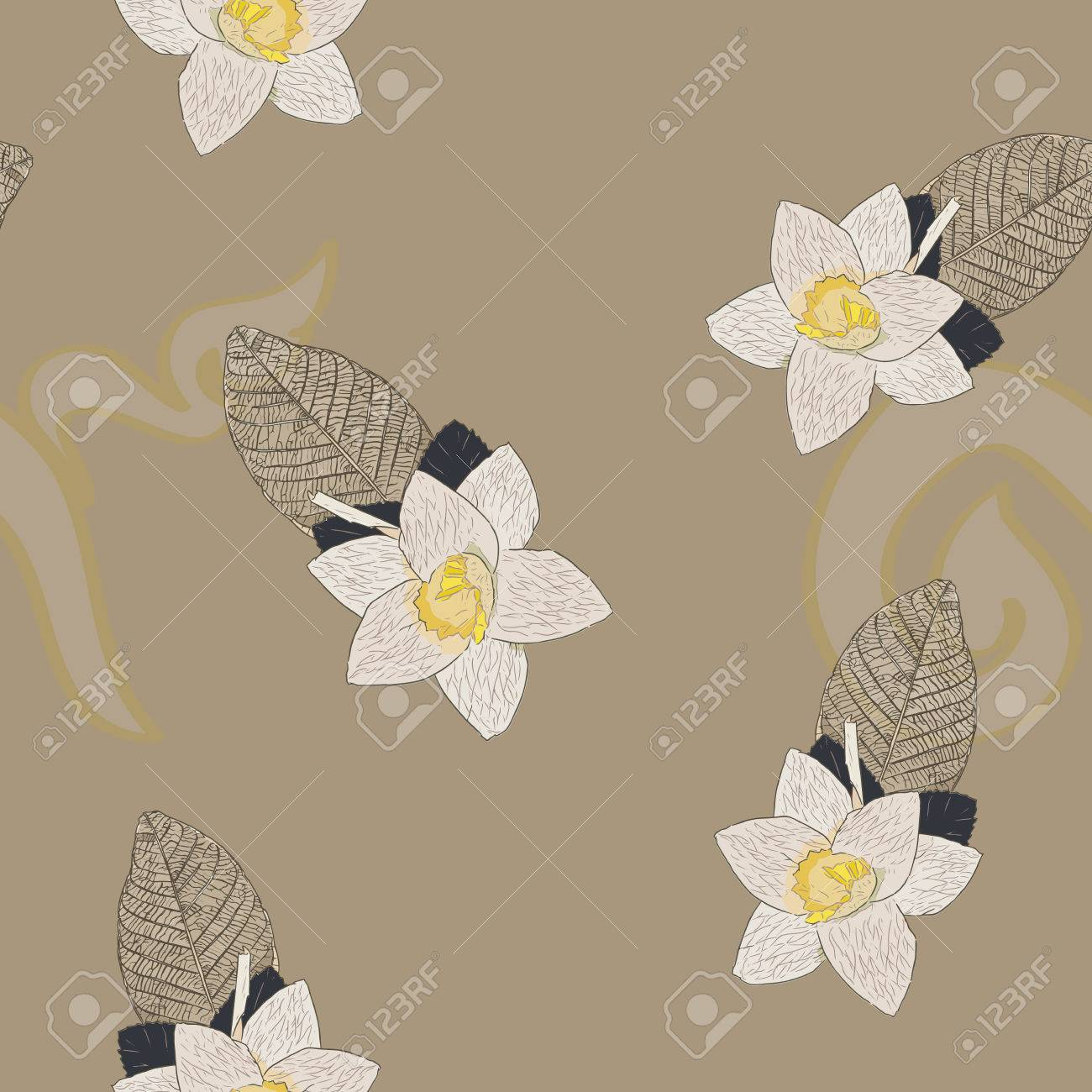 Thai artificial funeral daffodil flower or dok mai chan hand thai artificial funeral daffodil flower or dok mai chan hand draw sketch vector sandalwood izmirmasajfo