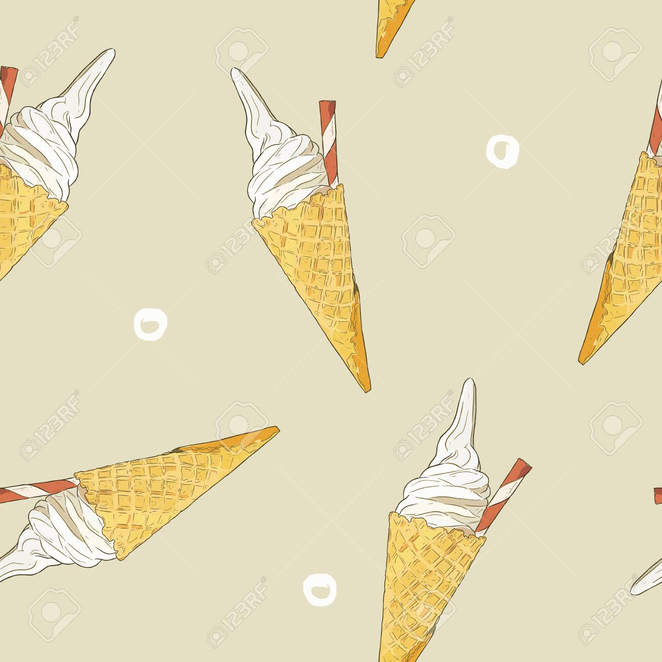 Ice Cream Cone Template | A Ice Cream Cone Pattern Royalty Free Cliparts Vectors And Stock
