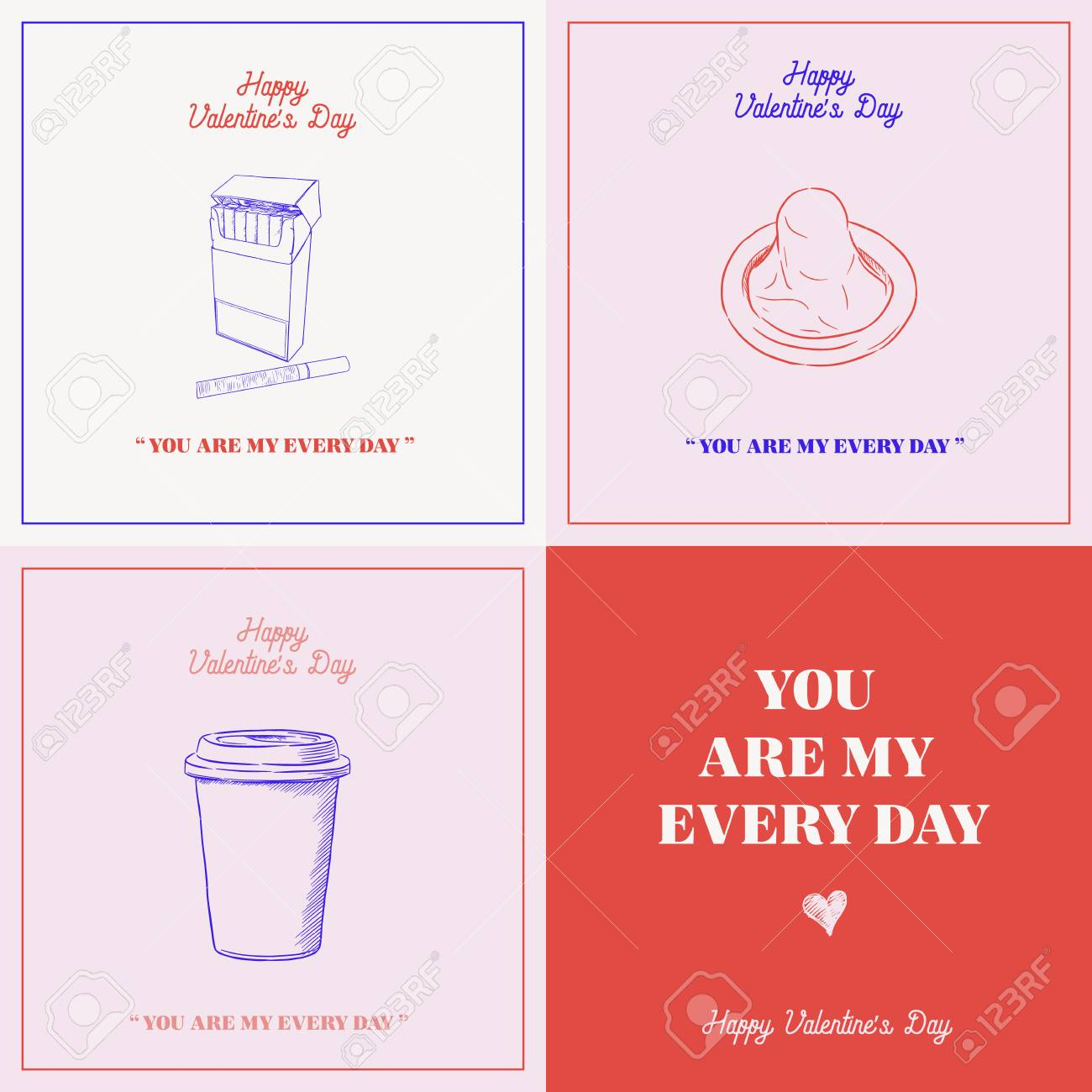 Valentines day gift card set valentines day gift card set 92819764 negle Images