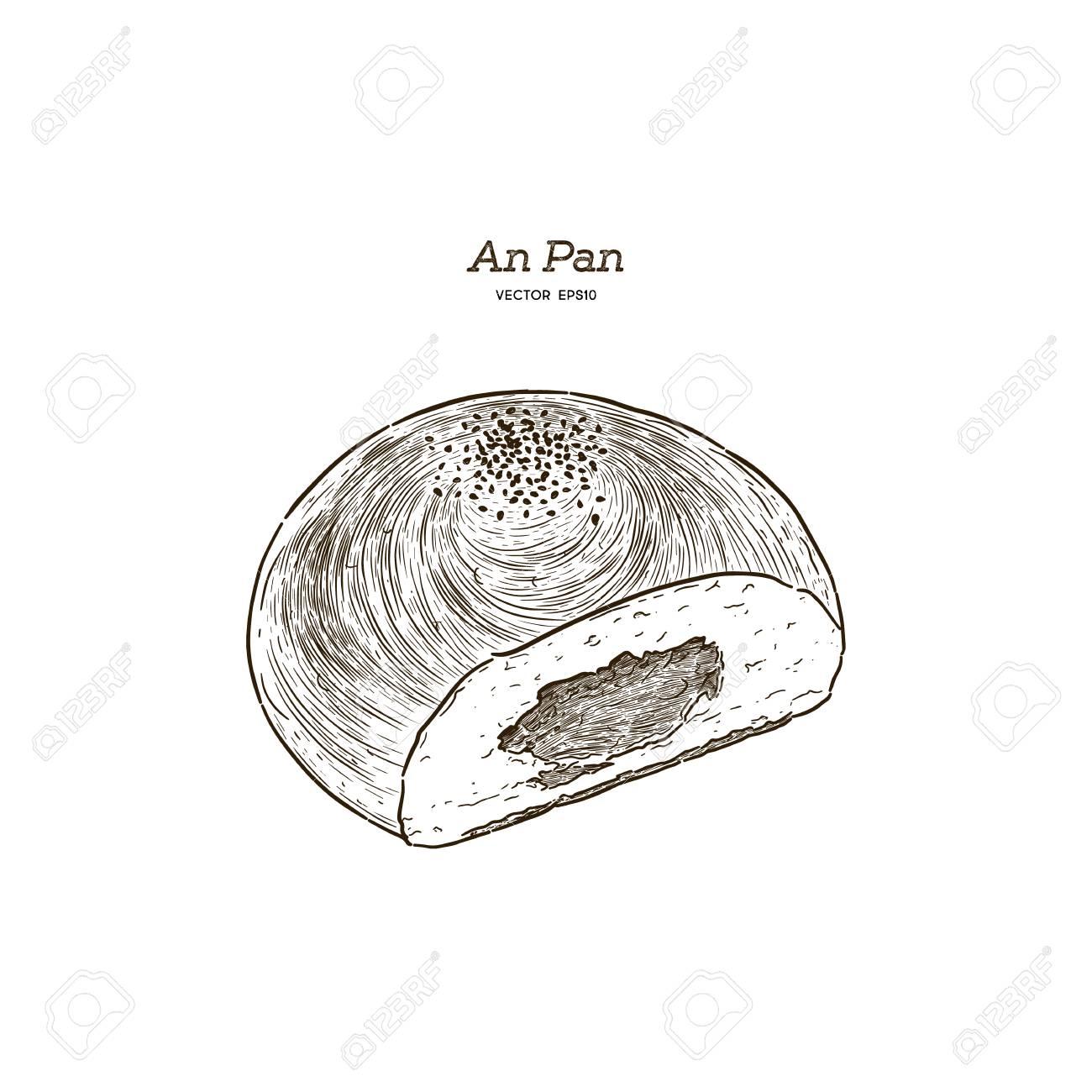 Cute Dessert Bread Food Illustration Small Print
