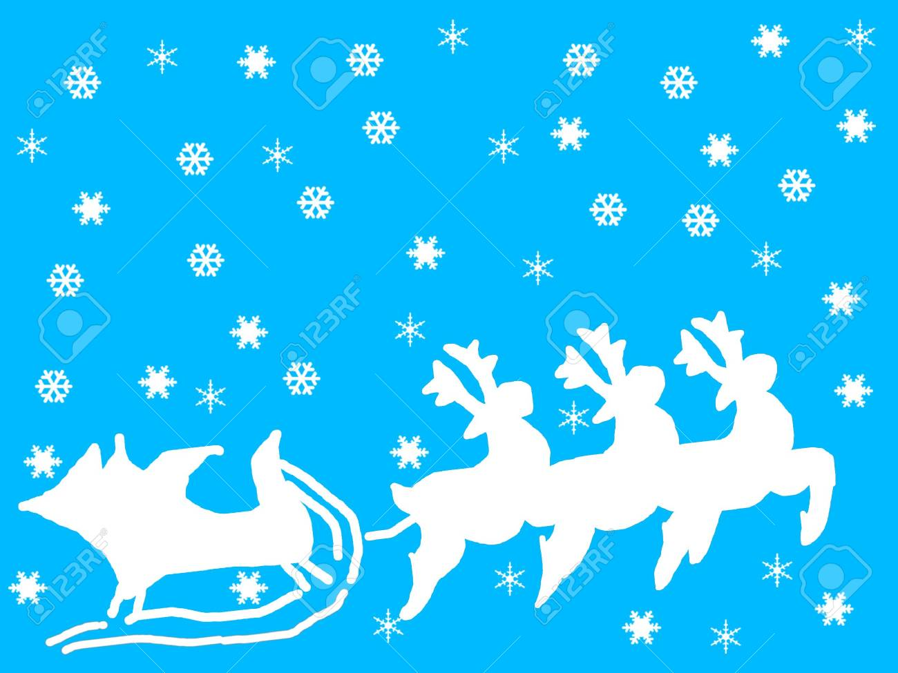 reindeer and snow flakes Stock Photo - 332148