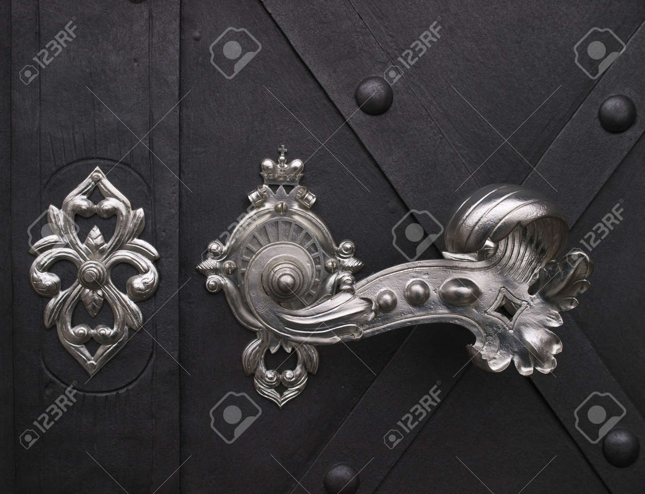Elegant Door Handle. Stock Photo, Picture And Royalty Free Image ...