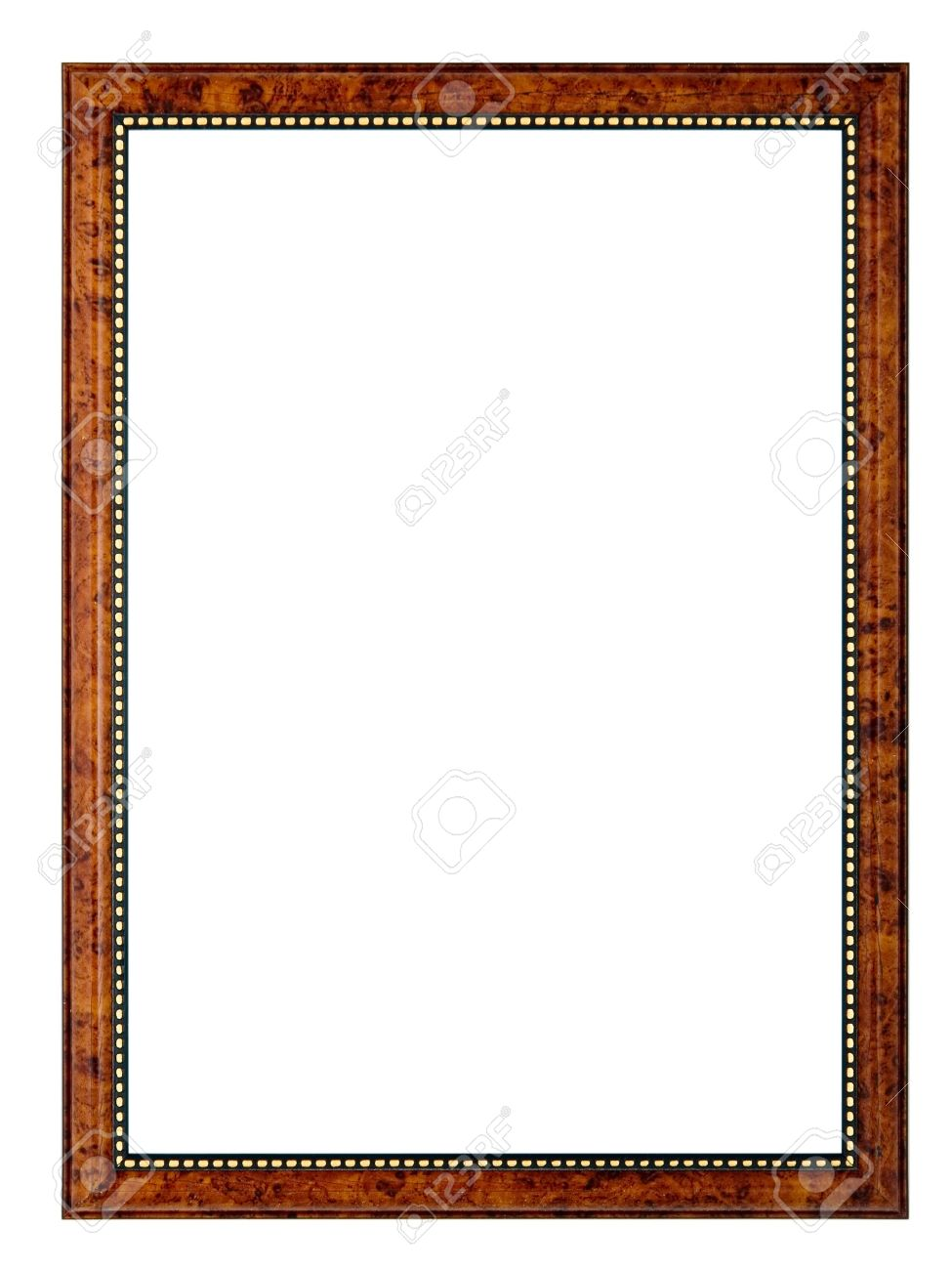 An Empty Frame, Isolated On White Stock Photo, Picture And Royalty ...