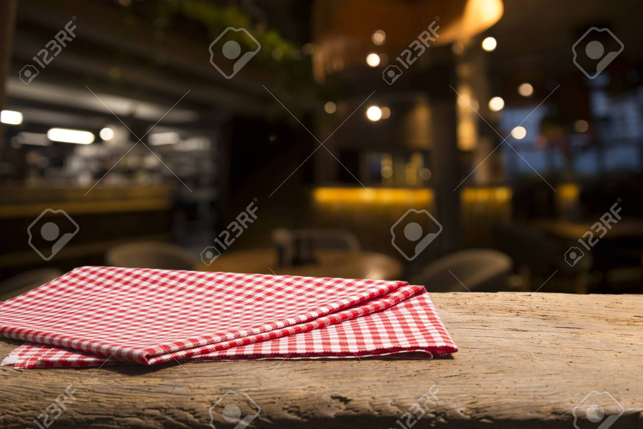 Empty Wood Table Top On Blur Light Gold Bokeh Of Cafe Restaurant Stock Photo Picture And Royalty Free Image Image 130729084
