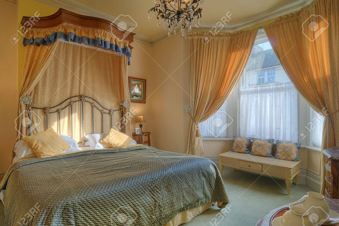 Picture of: Beautiful Bedroom With A King Size Bed Stock Photo Picture And Royalty Free Image Image 9949719