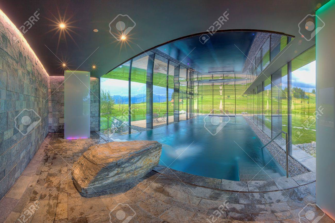 Luxurious swimming pool in the Kaufmann hotel Stock Photo - 15247434