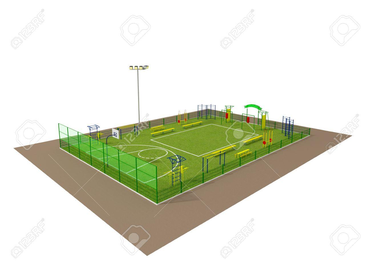 Как сделать макет футбольного поля из бумаги своими руками