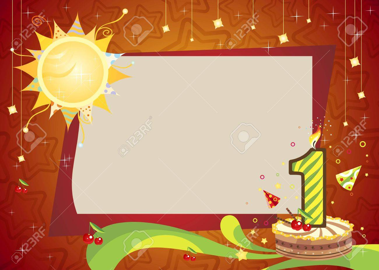 Anniversary Card And Cake