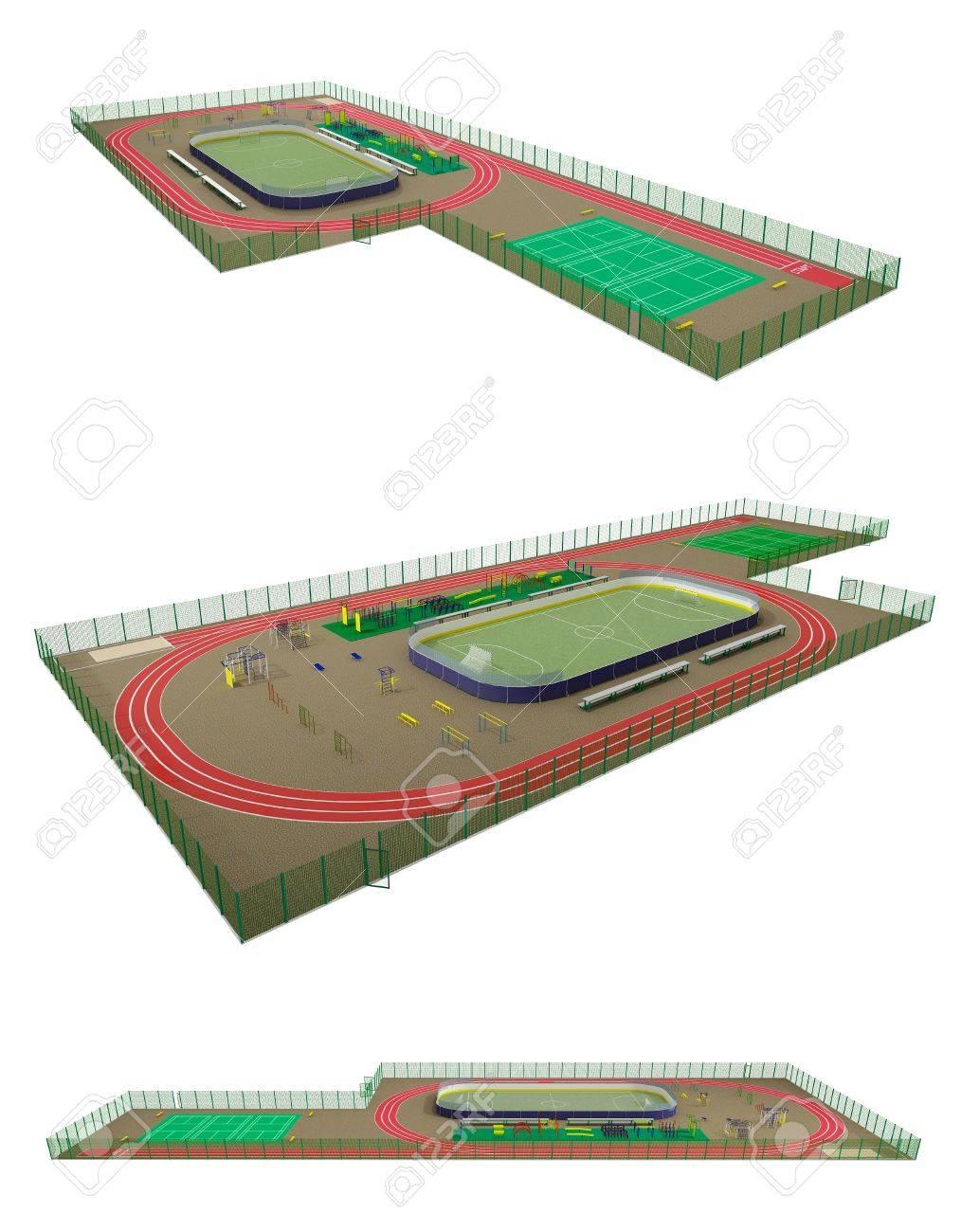 Макет спортивной площадки
