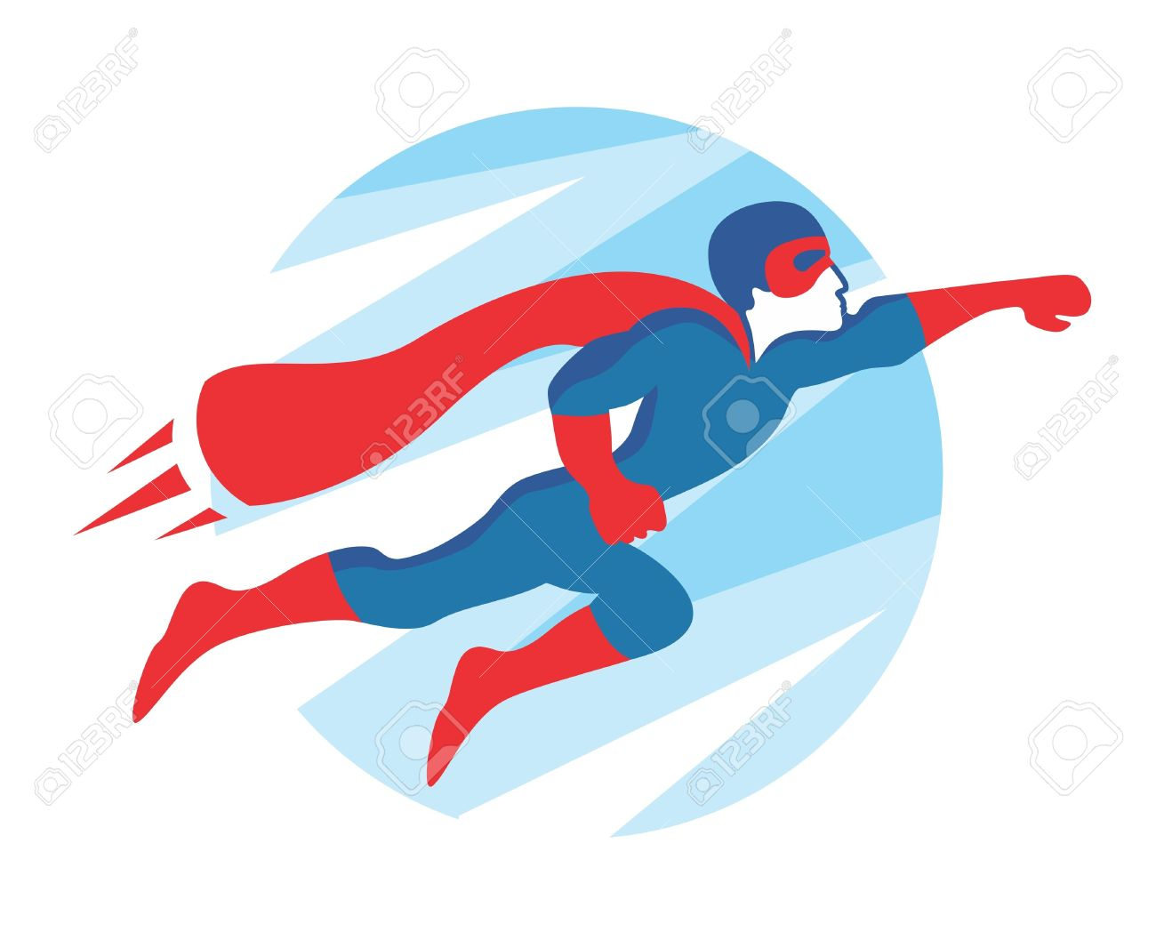 Superhero Icon Vector flying Superhero Flying Vector