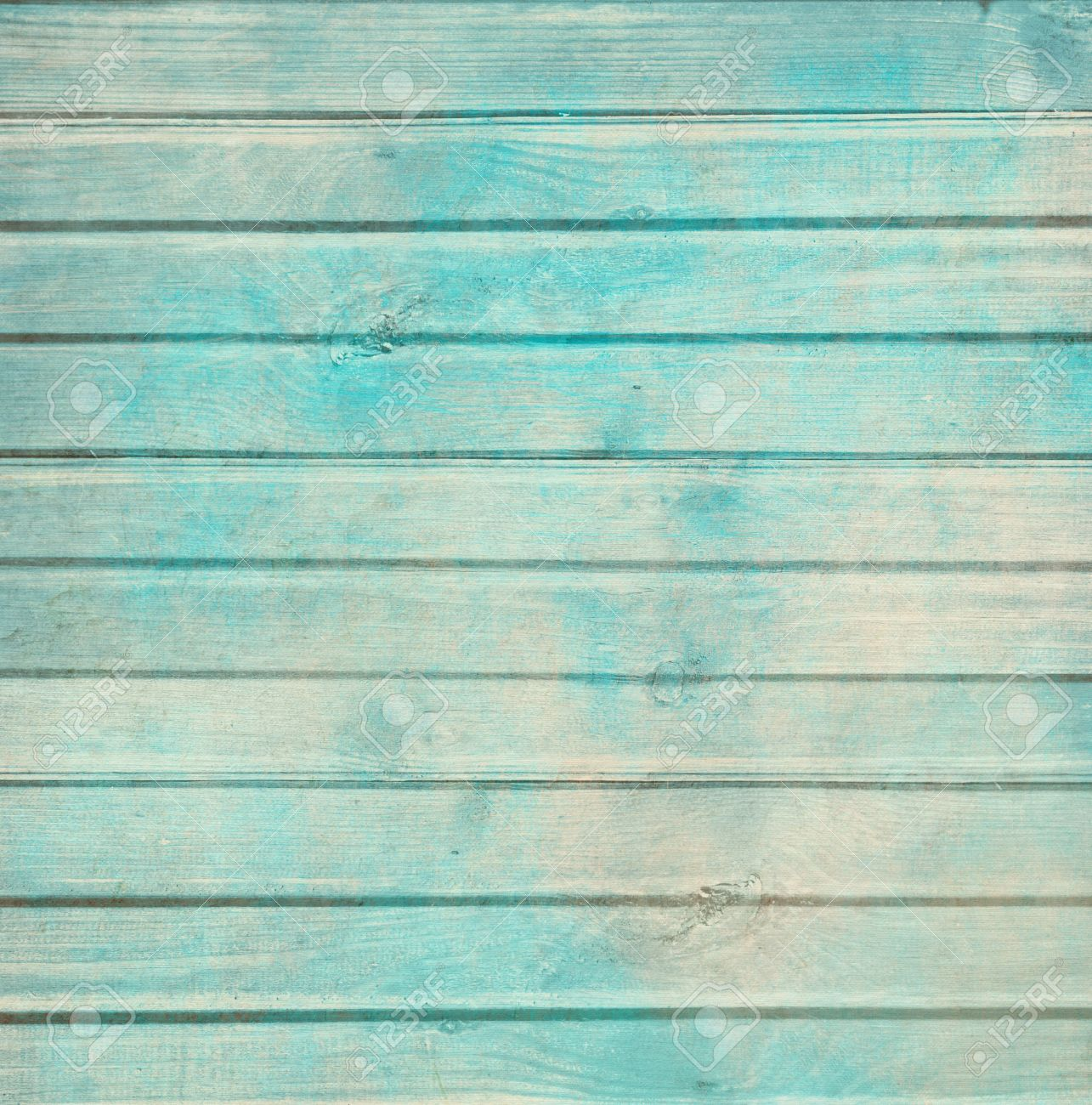 Rustic Old Plank Background In Turquoise Mint And Beige Colors With Textured Scratches Antique