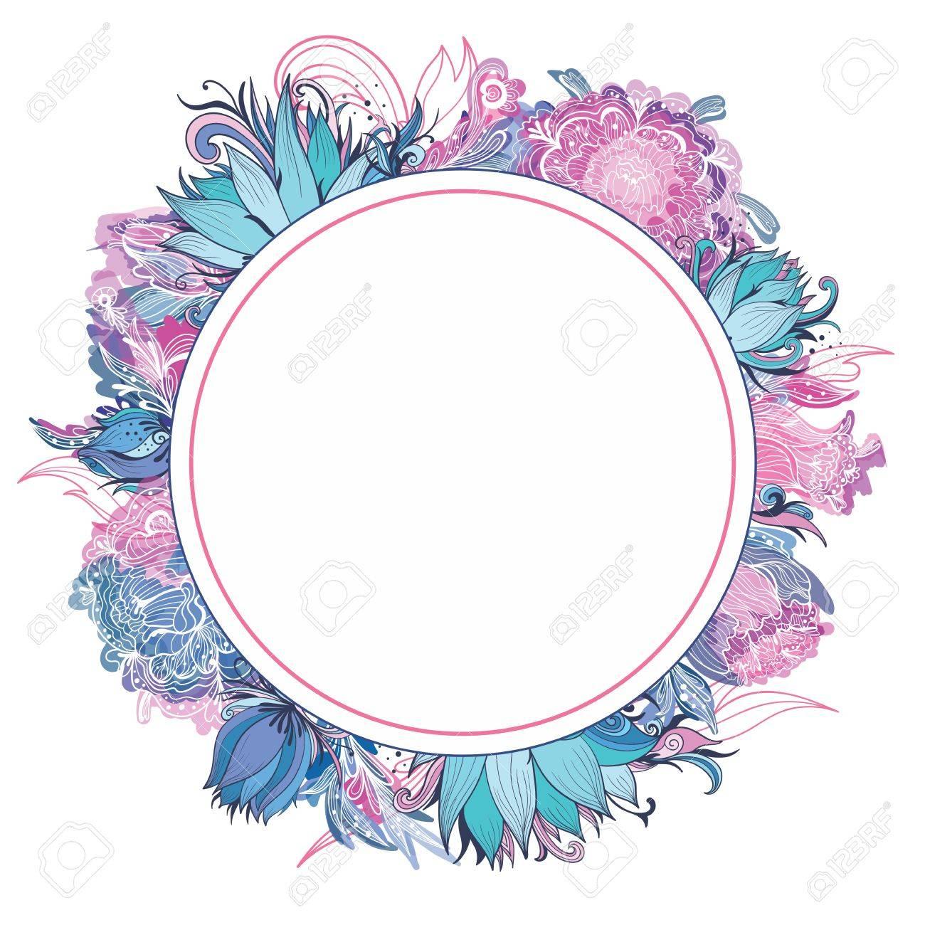 modelo de la tarjeta con el loto lirio y flores de peona para la invitacin
