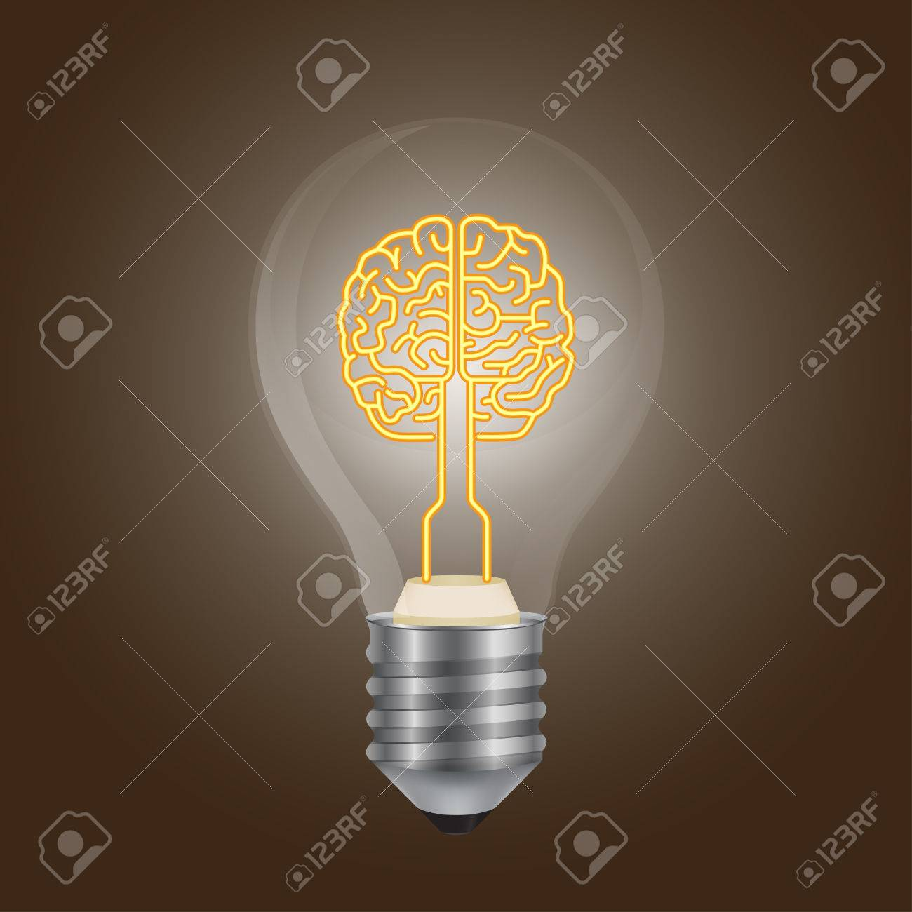 Brain Lamp Royalty Free Cliparts, Vectors, And Stock Illustration ...