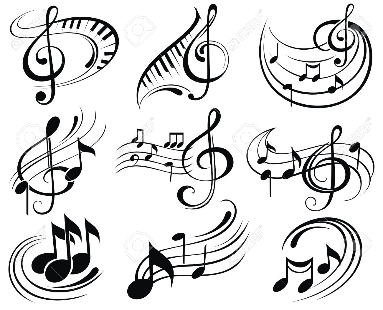 music notes royalty free cliparts vectors and stock illustration