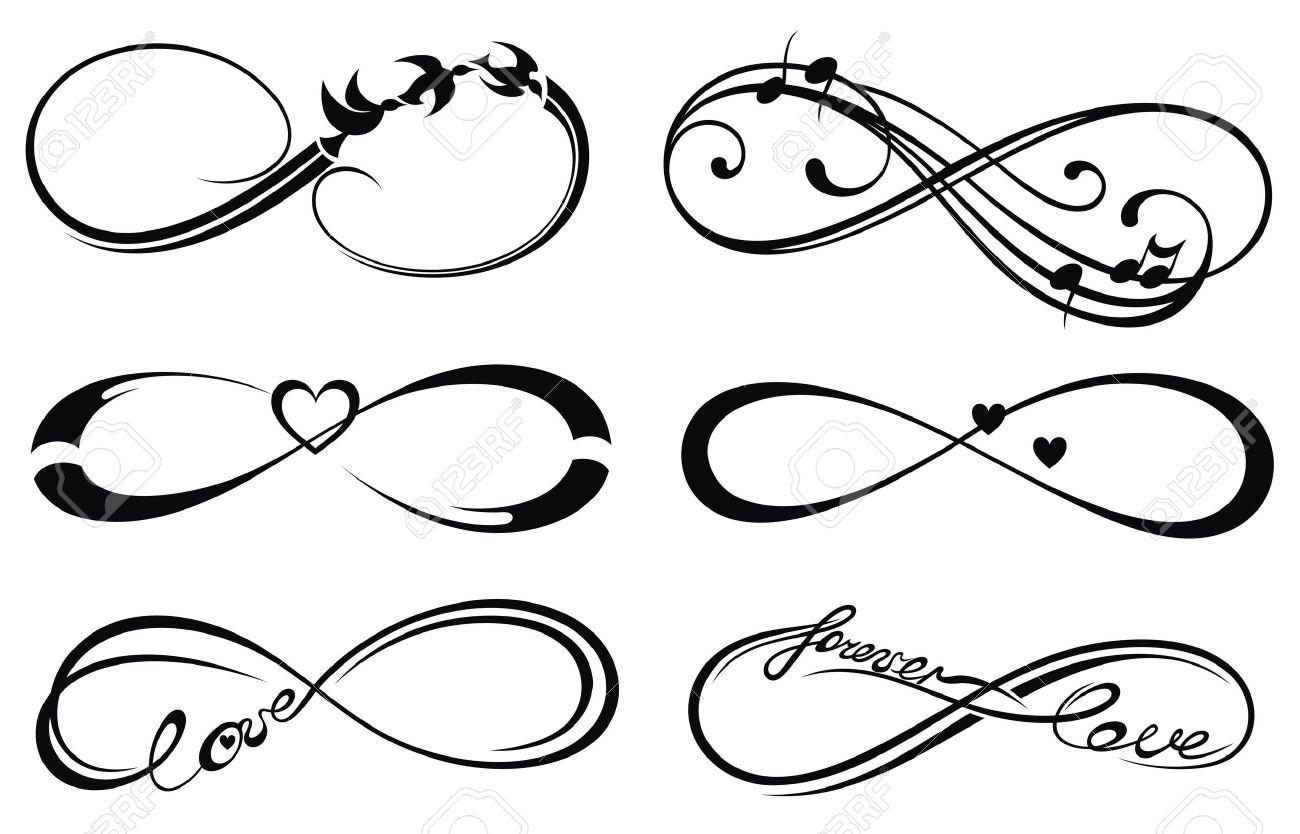 Amor Infinito Para Siempre Símbolo Ilustraciones Vectoriales Clip