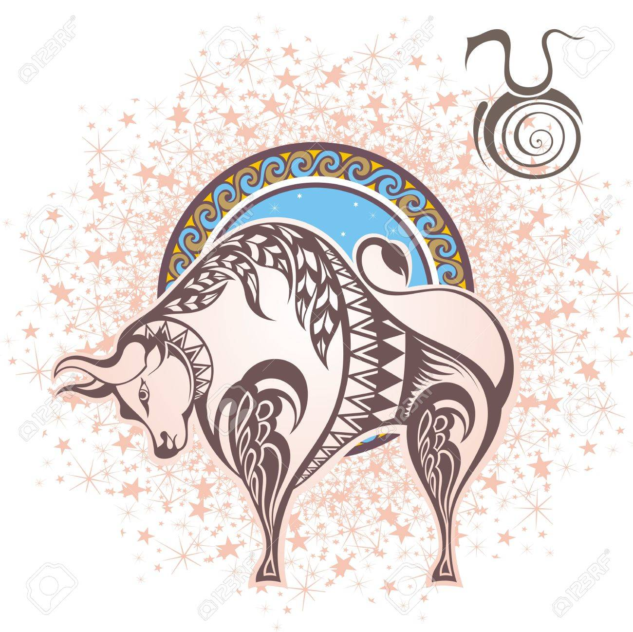 Taurus Zodiac Sign Royalty Free Cliparts Vectors And Stock