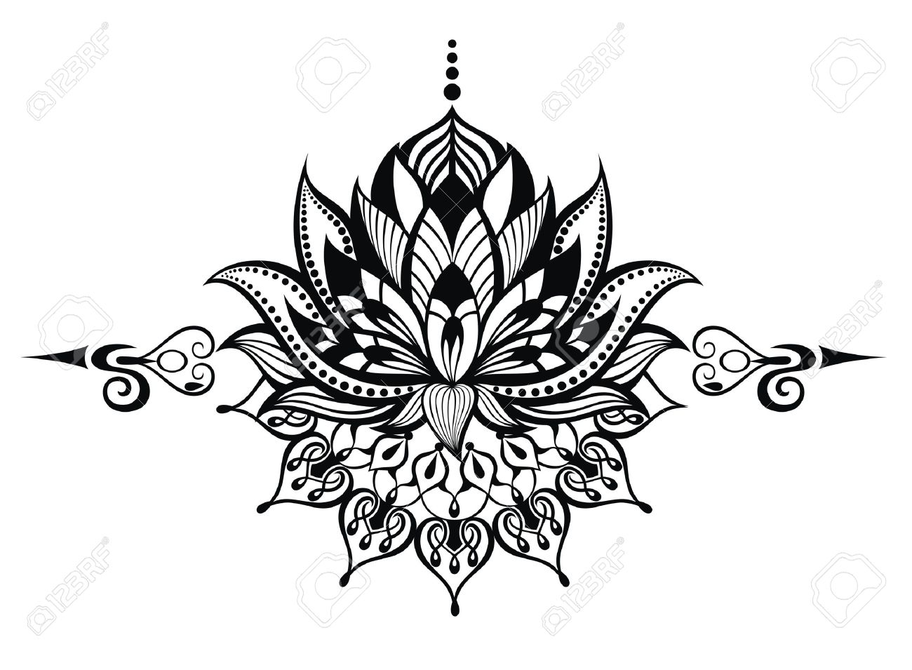 Lotus Flower Royalty Free Cliparts Vectors And Stock