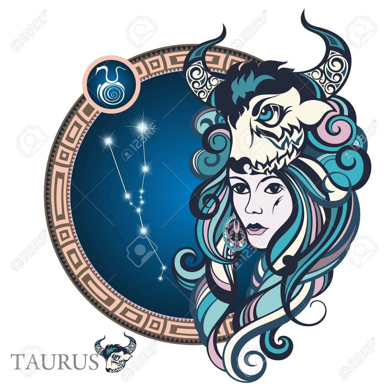Taurus Zodiac Sign Royalty Free Cliparts Vectors And Stock Illustration Image 67462000