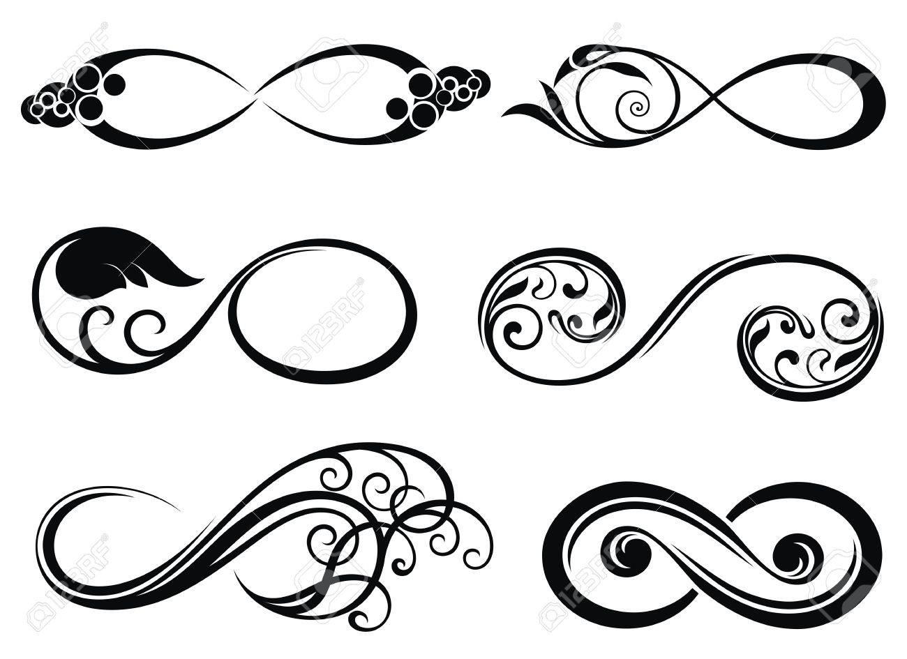 El Infinito Para Siempre Símbolo Ilustraciones Vectoriales Clip