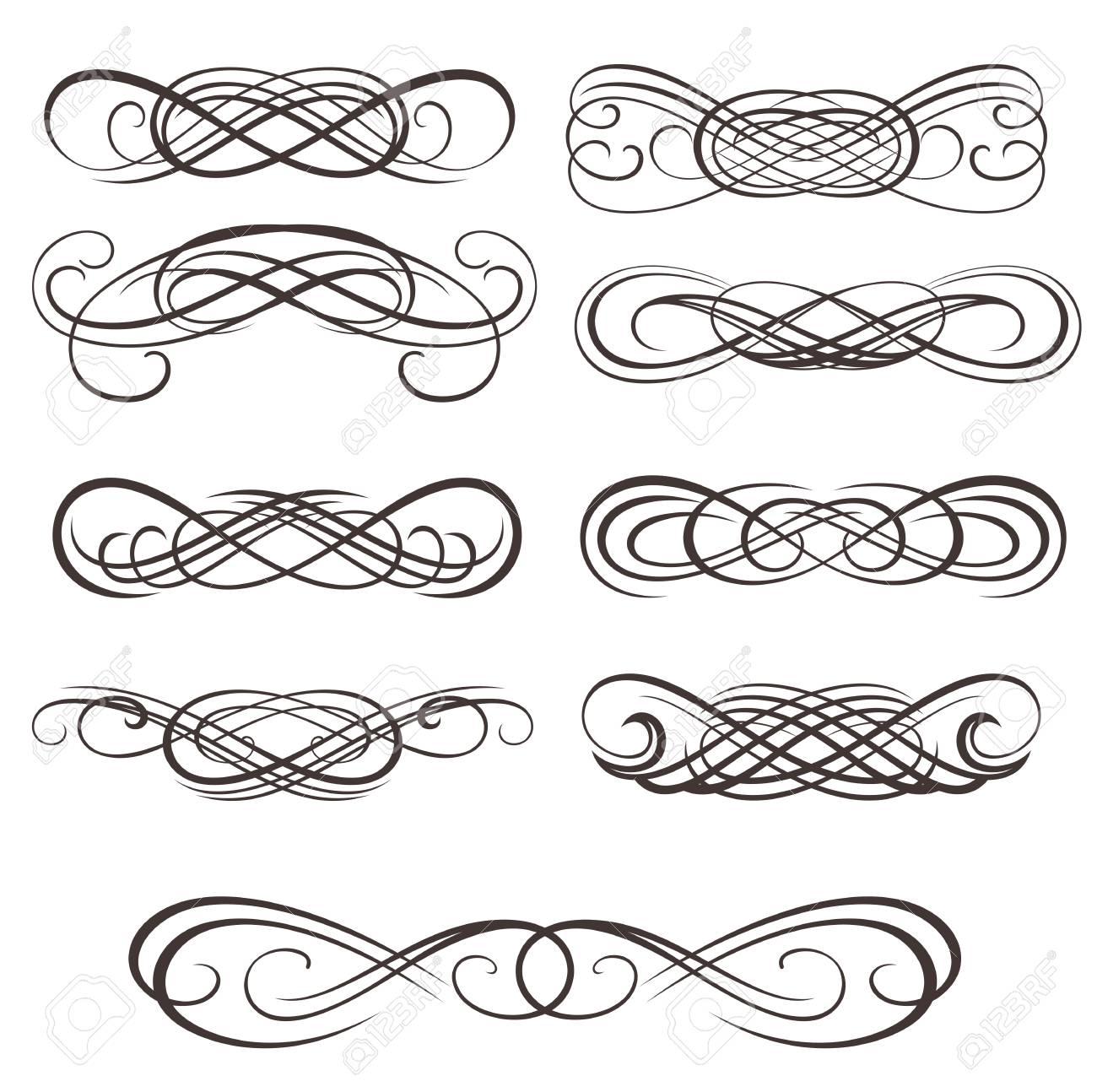 Infinity Symbols Vector Swirl Elements For Your Design Royalty Free