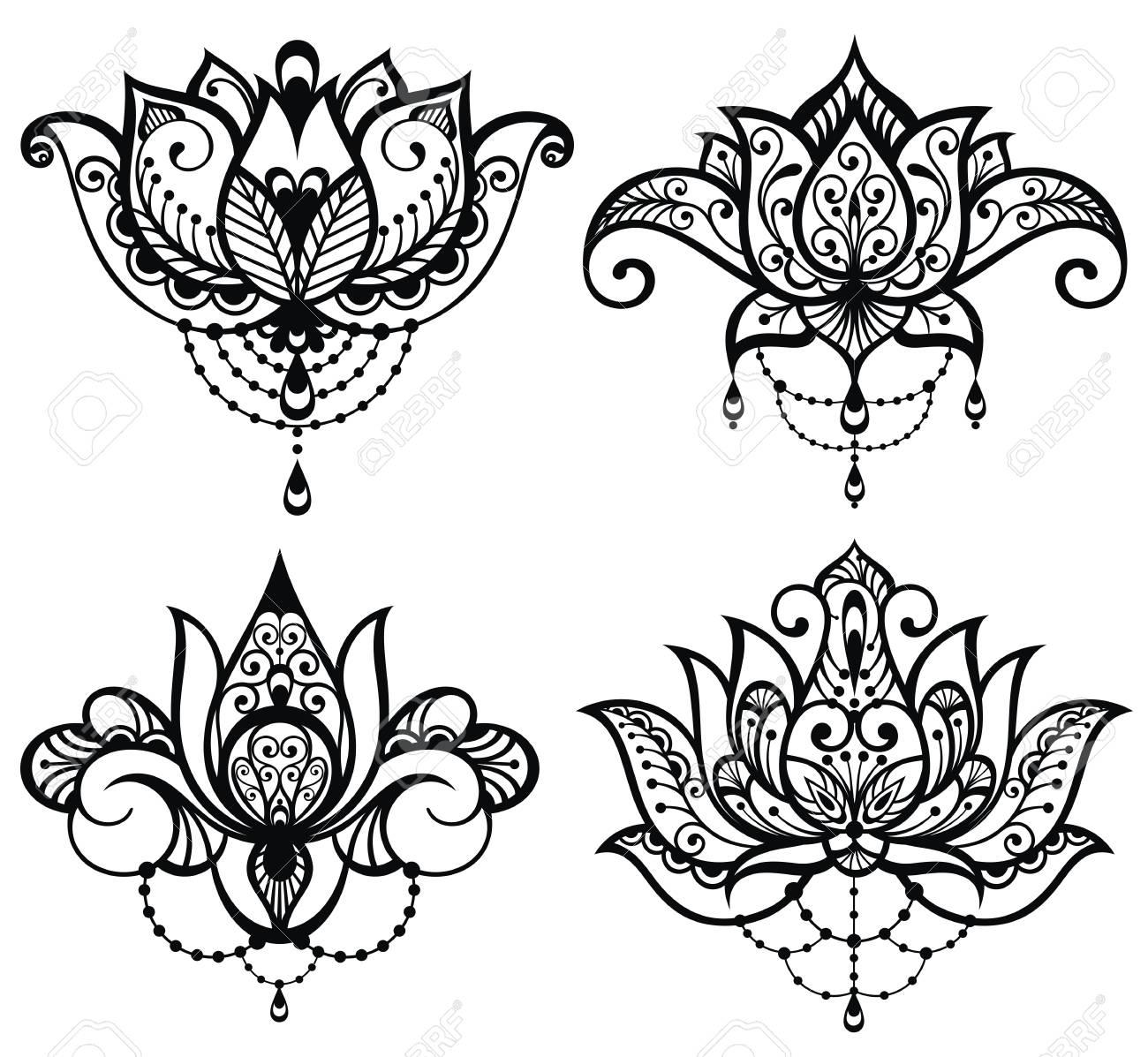 Lotus Tattoo Set