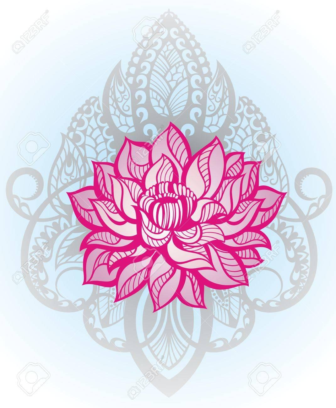 Oriental style flower lotus tattoo design element royalty free flower lotus tattoo design element stock vector 74952936 izmirmasajfo Gallery