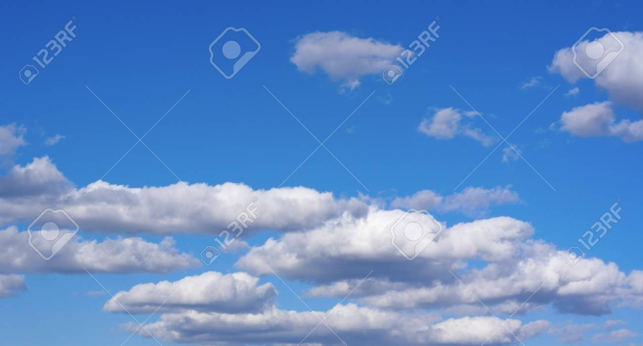 Blue sky with white clouds - 23769744