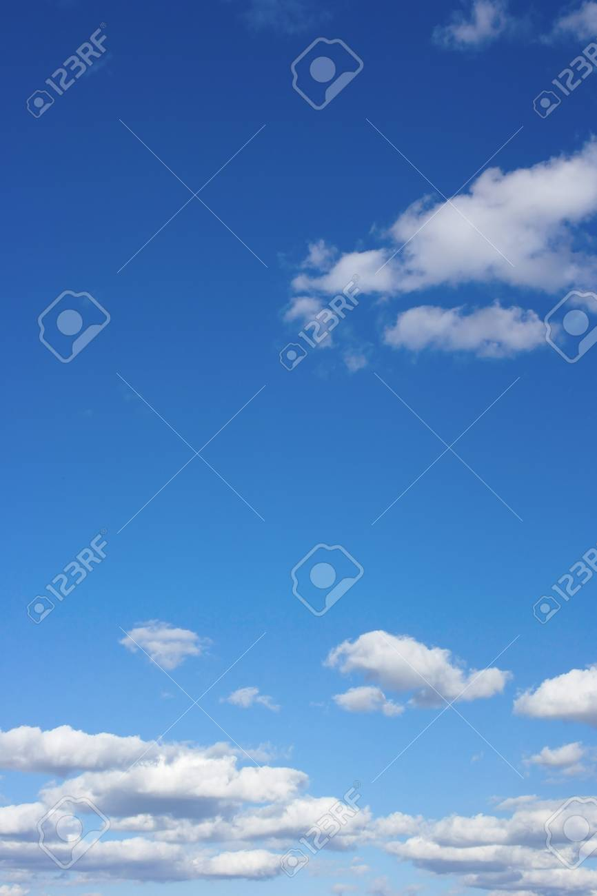 Beautiful blue sky with clouds - 23769746