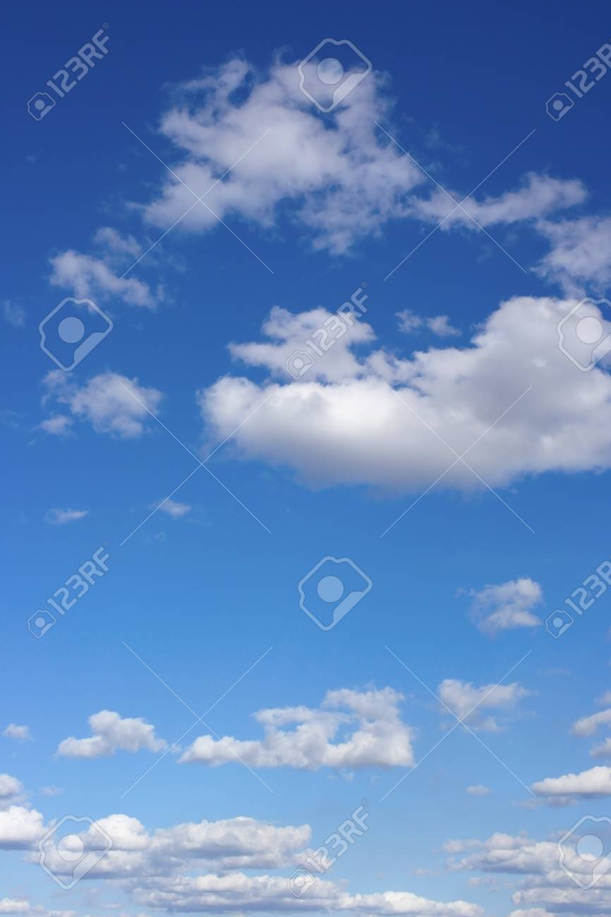 Beautiful blue sky with clouds - 23769828