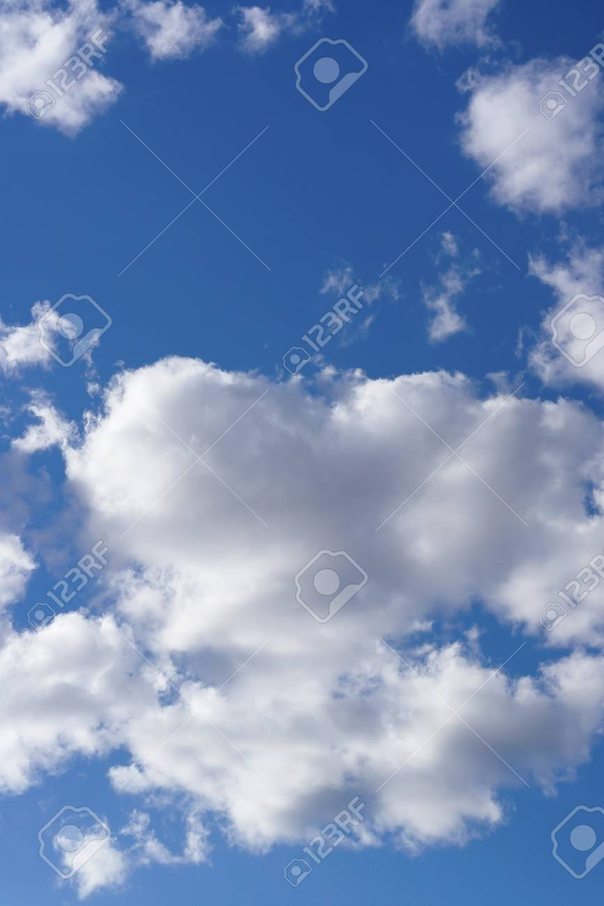 Beautiful blue sky with clouds - 23769833