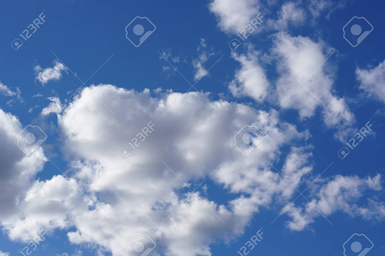 Beautiful blue sky with clouds - 23769831