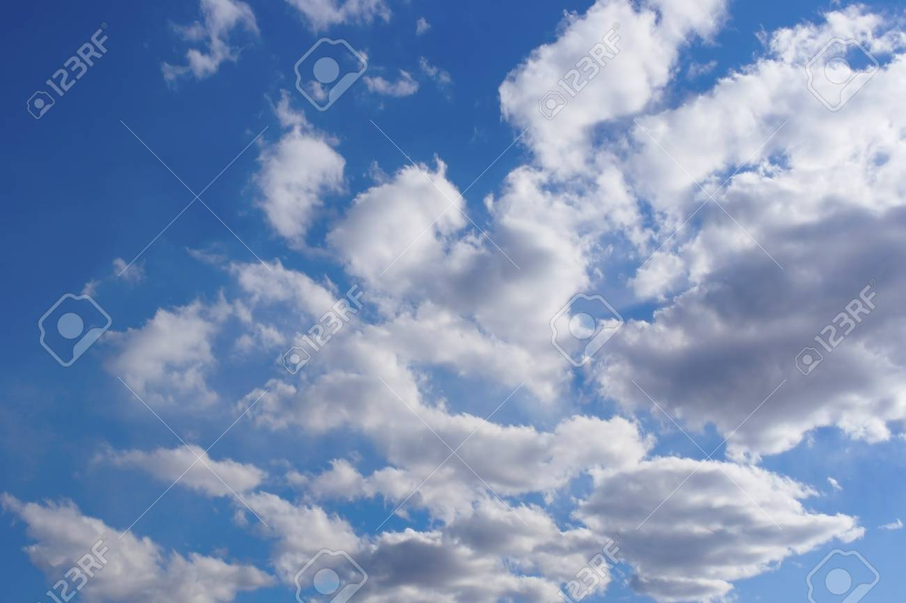 Beautiful blue sky with clouds - 23769842