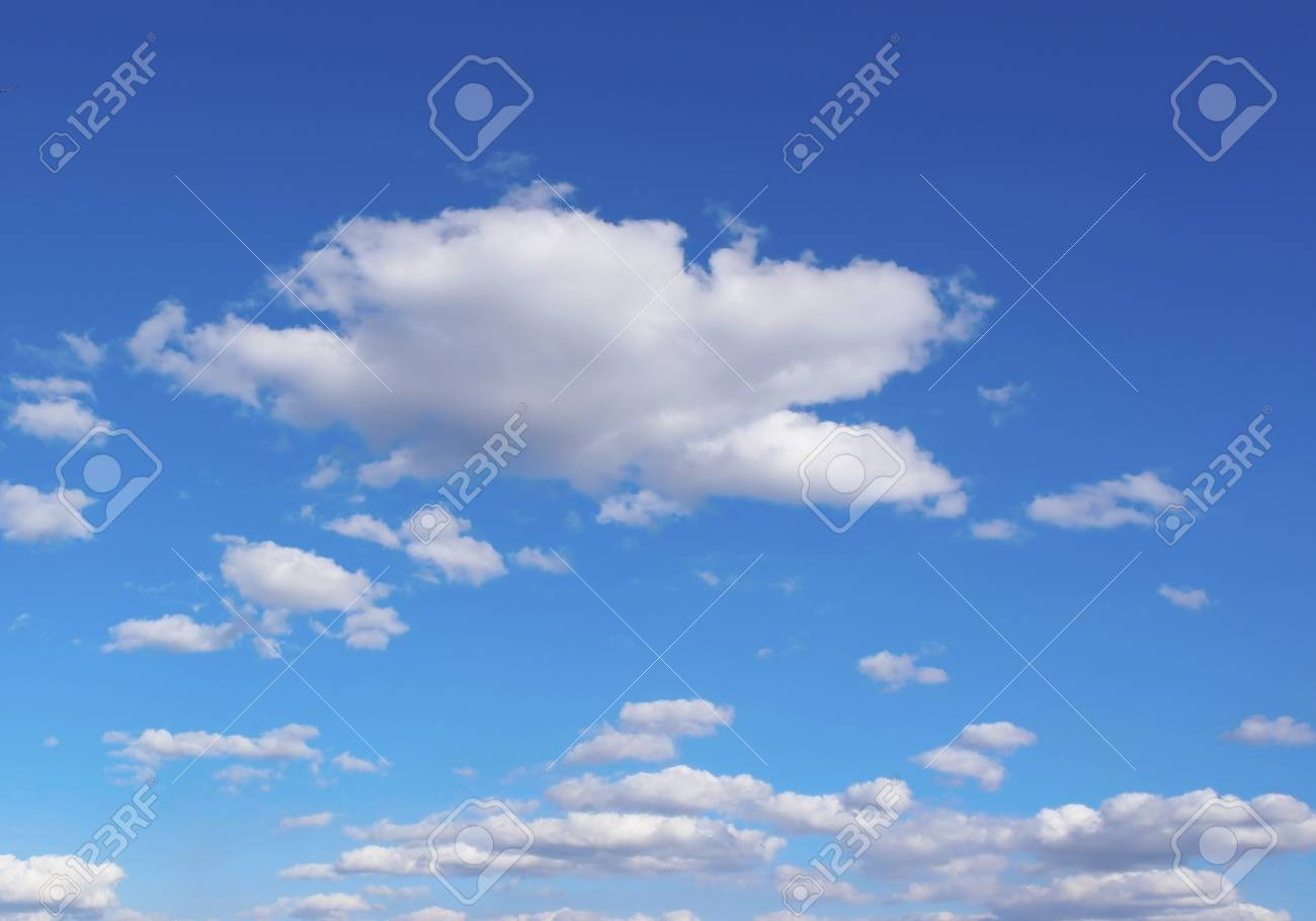 Beautiful blue sky with clouds - 23769843