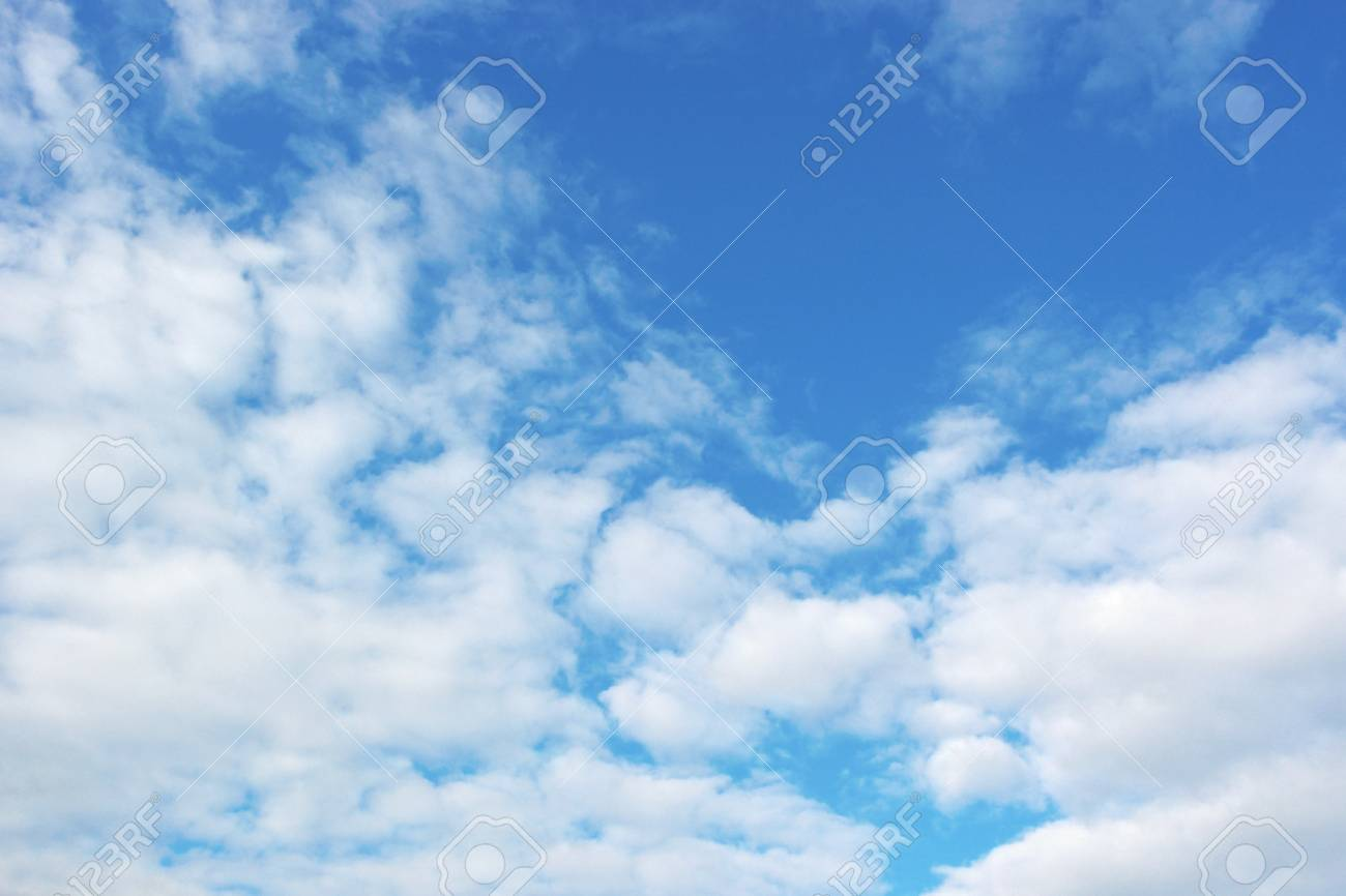 Beautiful blue sky with clouds - 23769895