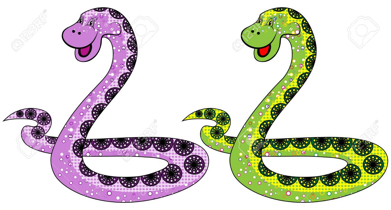 The snake symbol in 2013 on a white background options Stock Vector - 15713773
