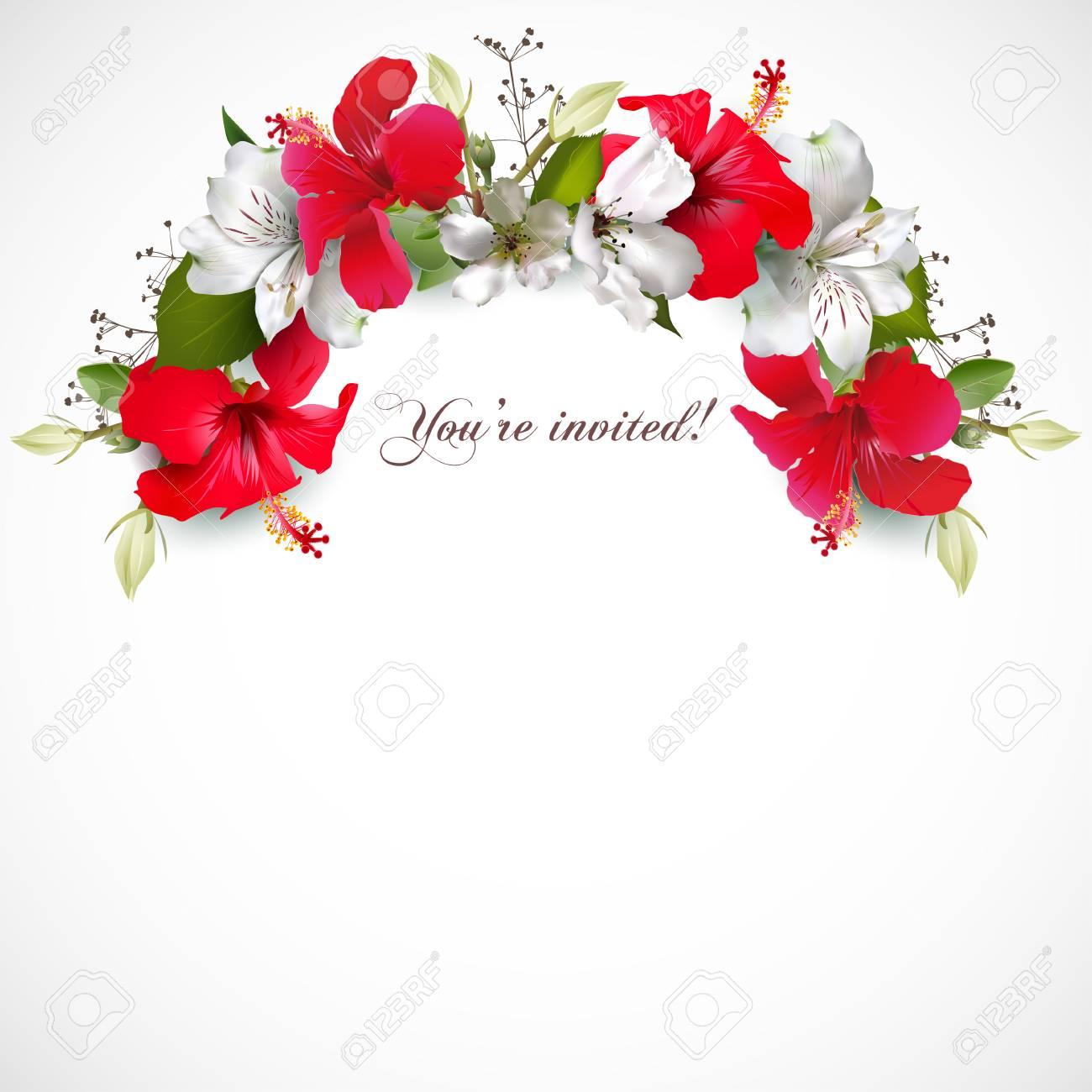 Invitation with hibiscus - 119068620