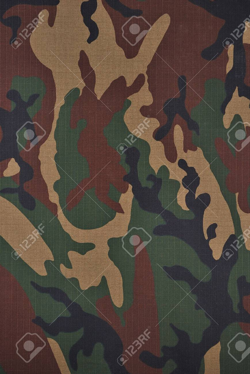 Close up camouflage fabric in a vertical orientation Stock Photo - 7906000
